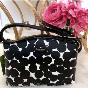 Kate Spade ♠️ NWT Black & White Dot Crossbody Bag
